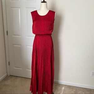 (Size S) Michael Kors Silky Red Maxi